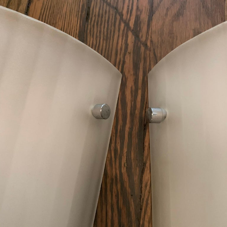 Italian Frosted Glass Wall Sconce Lights by Rodolfo Dordoni for Artemide For Sale 2