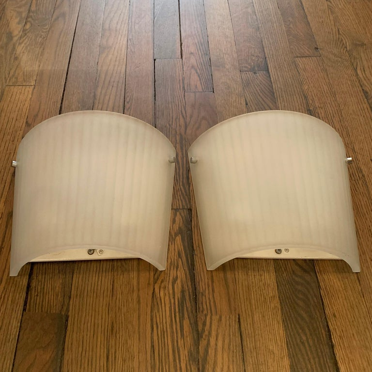 Italian Frosted Glass Wall Sconce Lights by Rodolfo Dordoni for Artemide For Sale 3