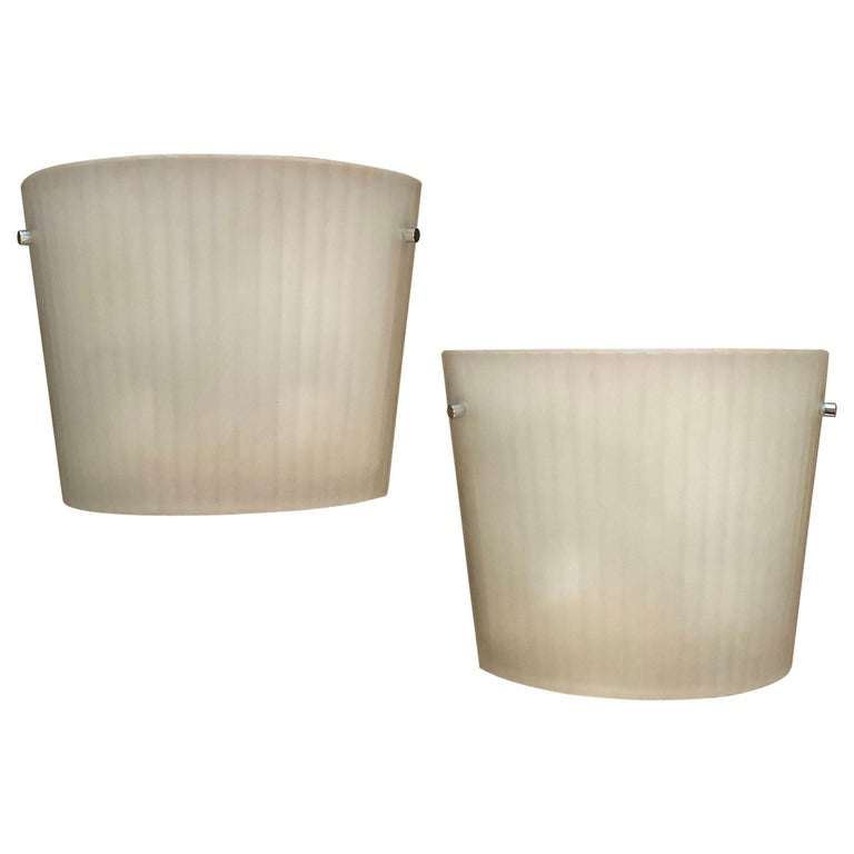 Italian Frosted Glass Wall Sconce Lights by Rodolfo Dordoni for Artemide For Sale