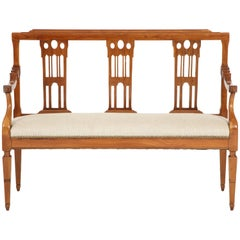 Italian Fruitwood Bench