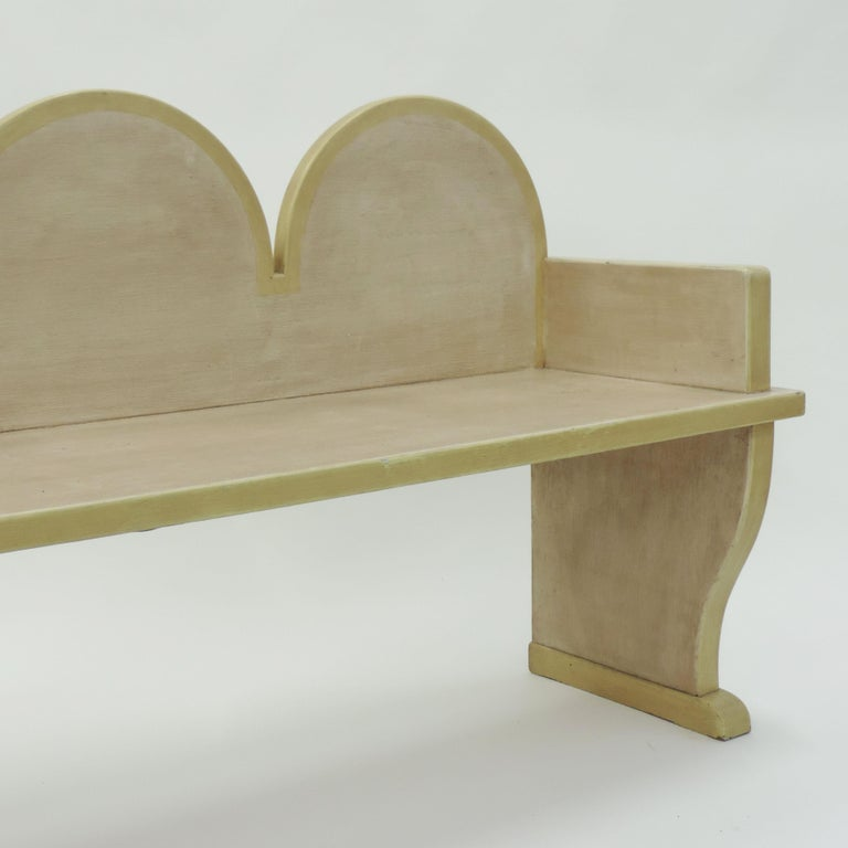 Italian 'Futurist' Bench, 1920s In Good Condition For Sale In Milan, IT