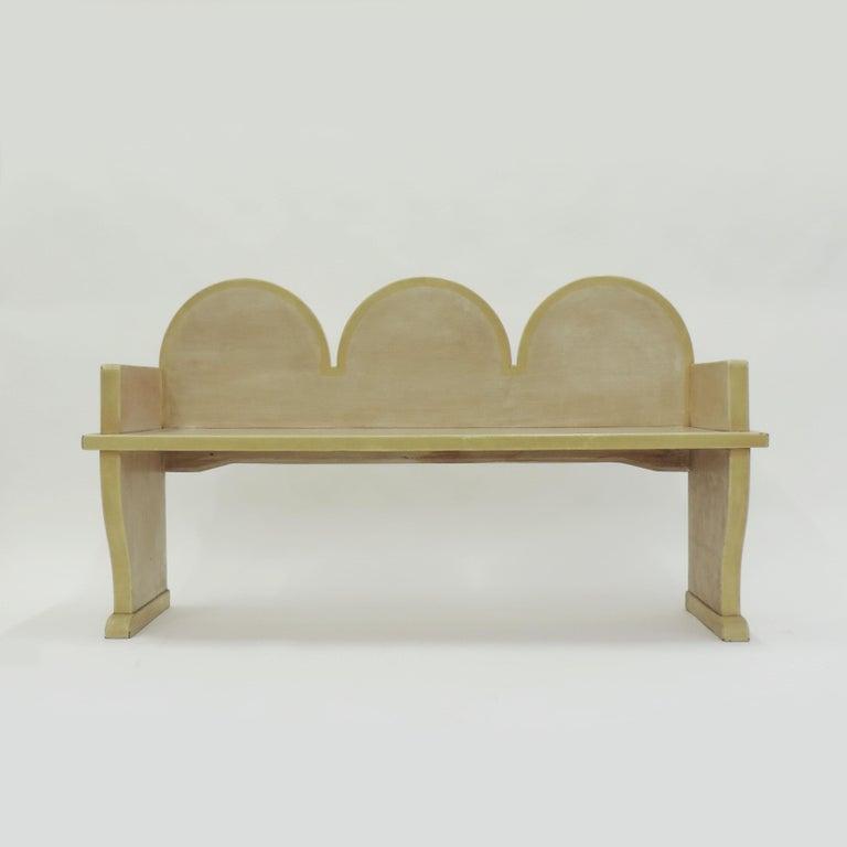 Wood Italian 'Futurist' Bench, 1920s For Sale
