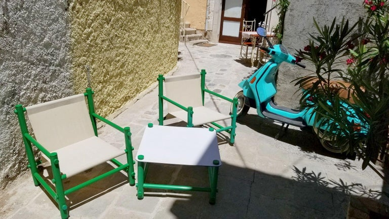 Late 20th Century Italian Garden Set by Merlett Tehnoplastic For Sale