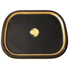 Italian Gilded and Ebonized Tole Tray