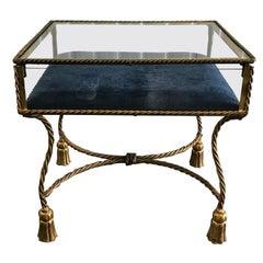 Italian Gilded Hollywood Regency Display Table