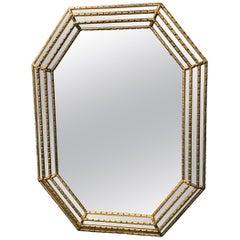 Italian Gilded Octagon Mirror