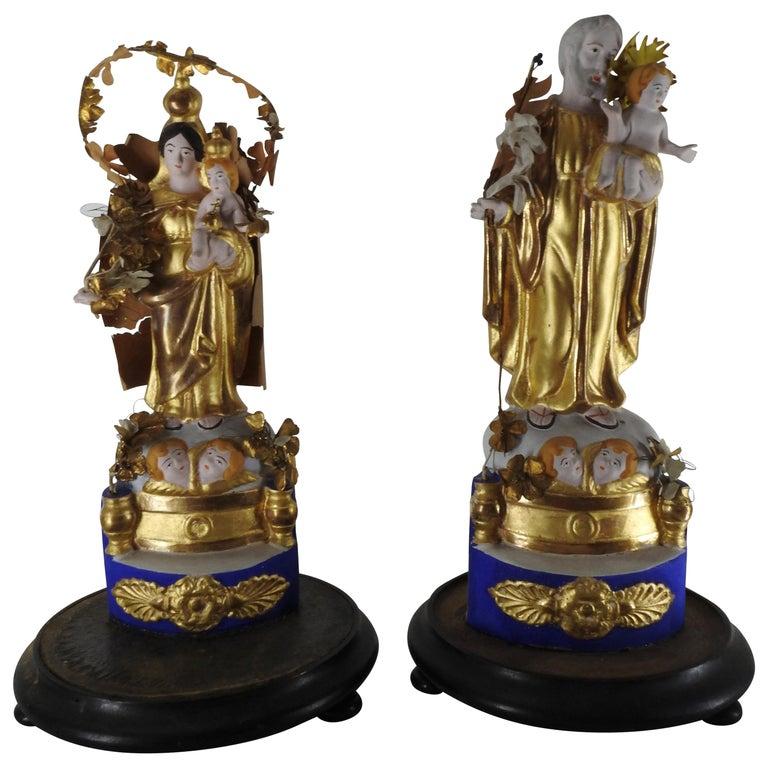 Italian Gilded Religious Sculptures For Sale