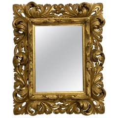 Italian Gilded Wood Carved Mirror