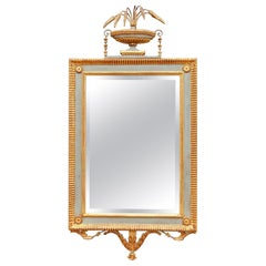 Italian Gilt and Painted Neoclassical Console Mirror