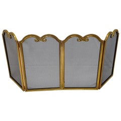 Italian Gilt Brass Fireplace Screen or Fire Screen