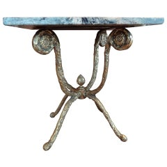 Italian Gilt Bronze Center Table with Marble Top