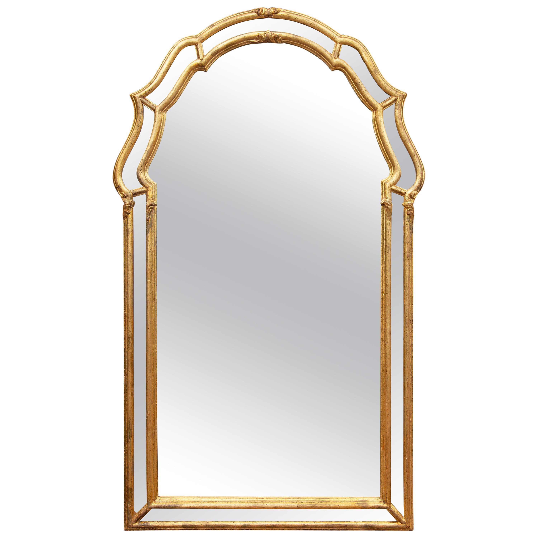 Italian Gilt Console Wall Mirror