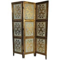 Italian Gilt Florentine Folding Screen or Room Divider