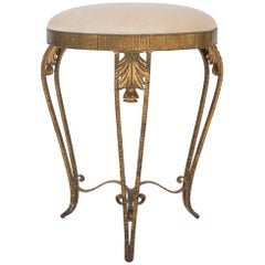 Italian Gilt Iron Vanity Stool
