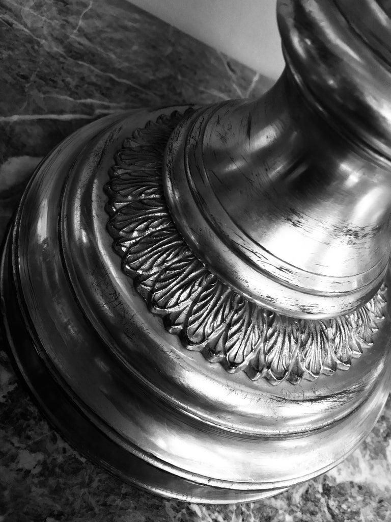 Italian Gilt Metal and Églomisé Lamp In Good Condition In London, GB