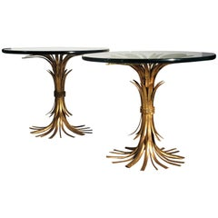 Italian Gilt Metal Sheaf of Wheat Tables