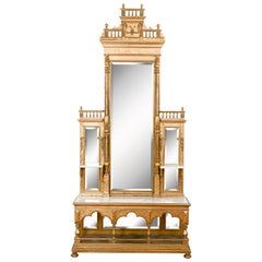 Italian Gilt Sacristy Mirror Dresser, 19th Century