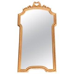 Italian Gilt Scalloped Mirror with Ribbon Motif, 1950s