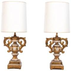 Italian Gilt Urn Lamps