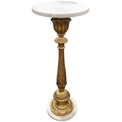Italian Giltwood and Marble Pedestal