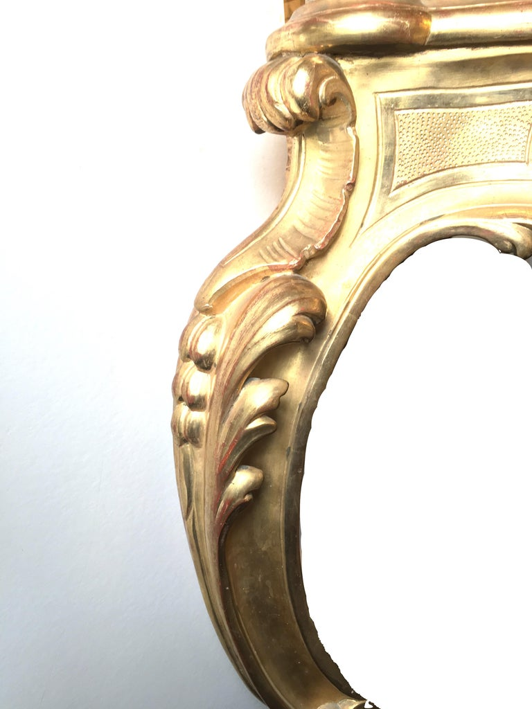 Italian Giltwood Console Table with Mirror, 19th Century In Excellent Condition For Sale In Uppingham, GB
