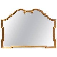 Italian Giltwood Mid-Century Modern Mantle Mirror