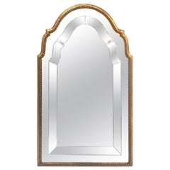 Italian Giltwood Mirror with Engraved Glass, circa 1920