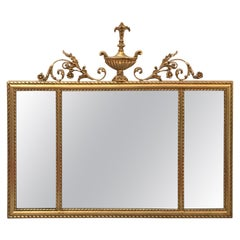 Italian Giltwood over Mantle Mirror by Labarge