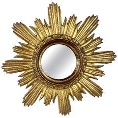 Italian Giltwood Sunburst Mirror, circa 1940