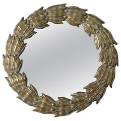 Italian Giltwood Wreath Shaped Mirror