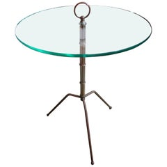 Italian Gio Ponti Inspired Brass Tripod Table