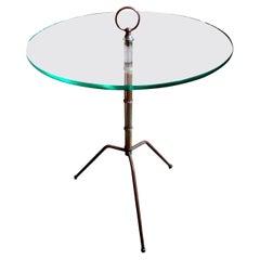 Italian Gio Ponti Inspired Brass Tripod Table