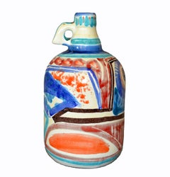 Italian Giovanni Desimone Hand Painted Pottery, Decanter, Vessel