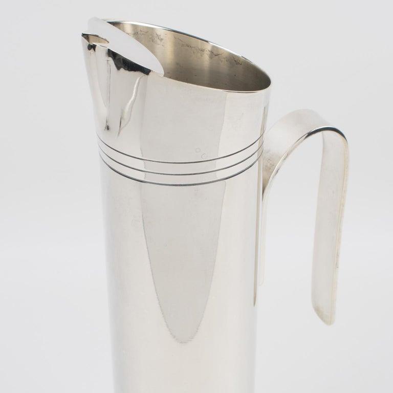 Metal Italian Giuliano Bossi Silver Plate Barware Cocktail Martini Pitcher