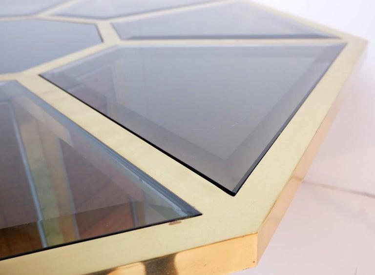Italian glam octagonal dining table by Romeo Rega, 1970s.
