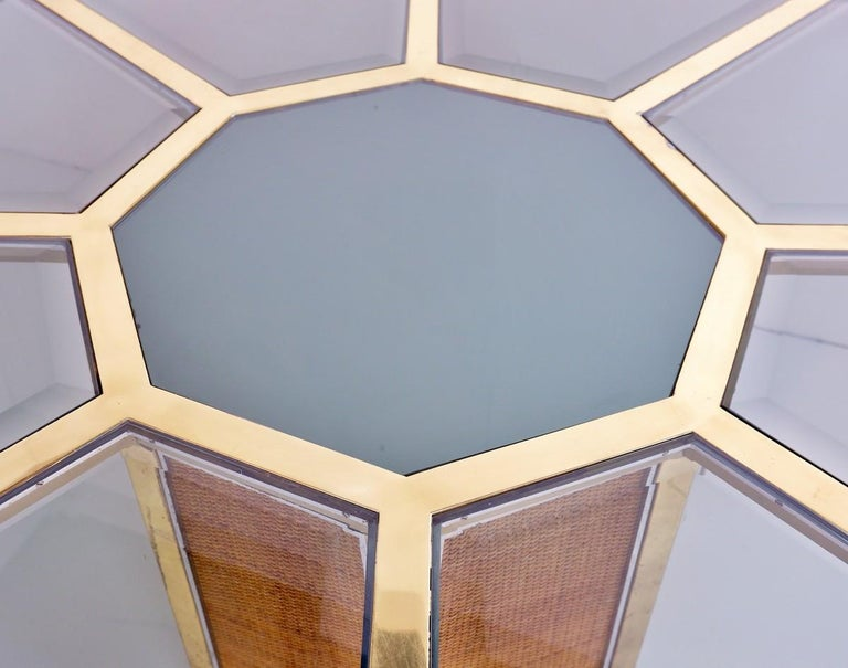Late 20th Century Italian Glam Octagonal Dining Table by Romeo Rega, 1970s For Sale