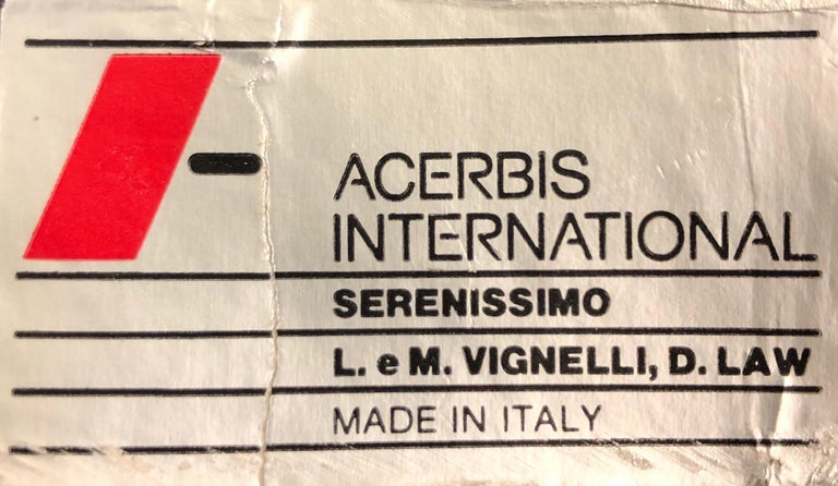 Italian Glass and Steel Dining Table by Vignelli for Acerbis For Sale 2