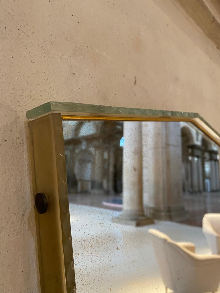 Italian Glass Frame Mirror, Italy, 1950s For Sale 8
