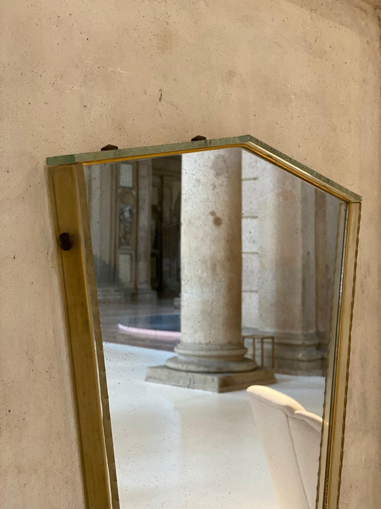 Italian Glass Frame Mirror, Italy, 1950s For Sale 9