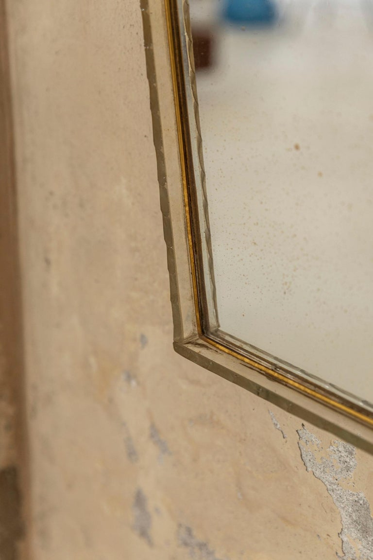 Italian Glass Frame Mirror, Italy, 1950s For Sale 2