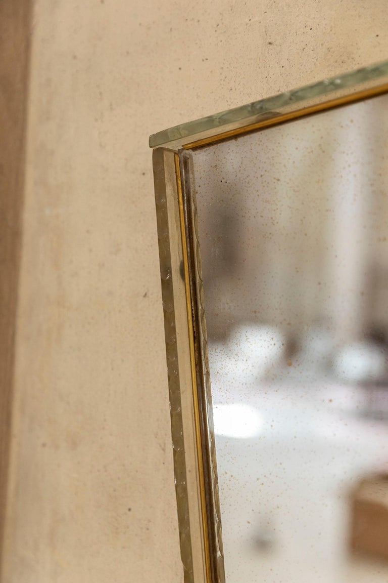 Italian Glass Frame Mirror, Italy, 1950s For Sale 3