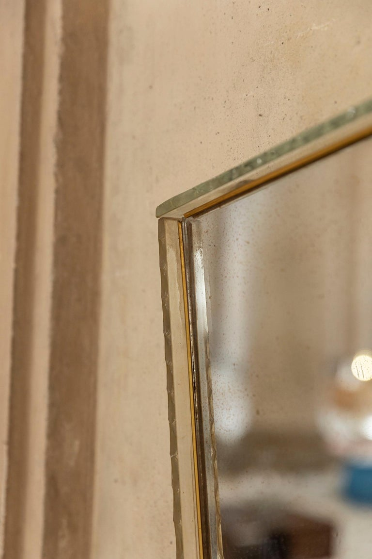 Italian Glass Frame Mirror, Italy, 1950s For Sale 4