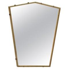 Italian Glass Frame Mirror, Italy, 1950s