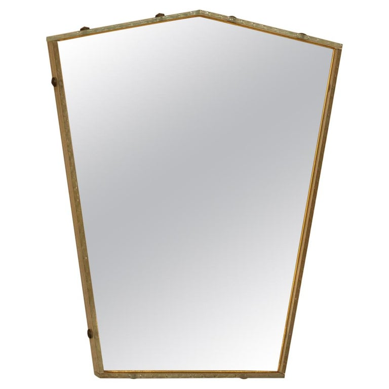 Italian Glass Frame Mirror, Italy, 1950s For Sale