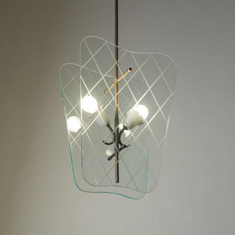 Italian Glass Lanterns, 1940s For Sale 4