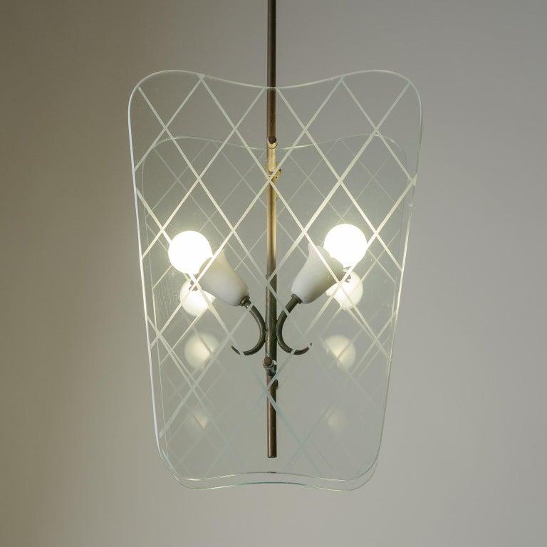 Italian Glass Lanterns, 1940s For Sale 5