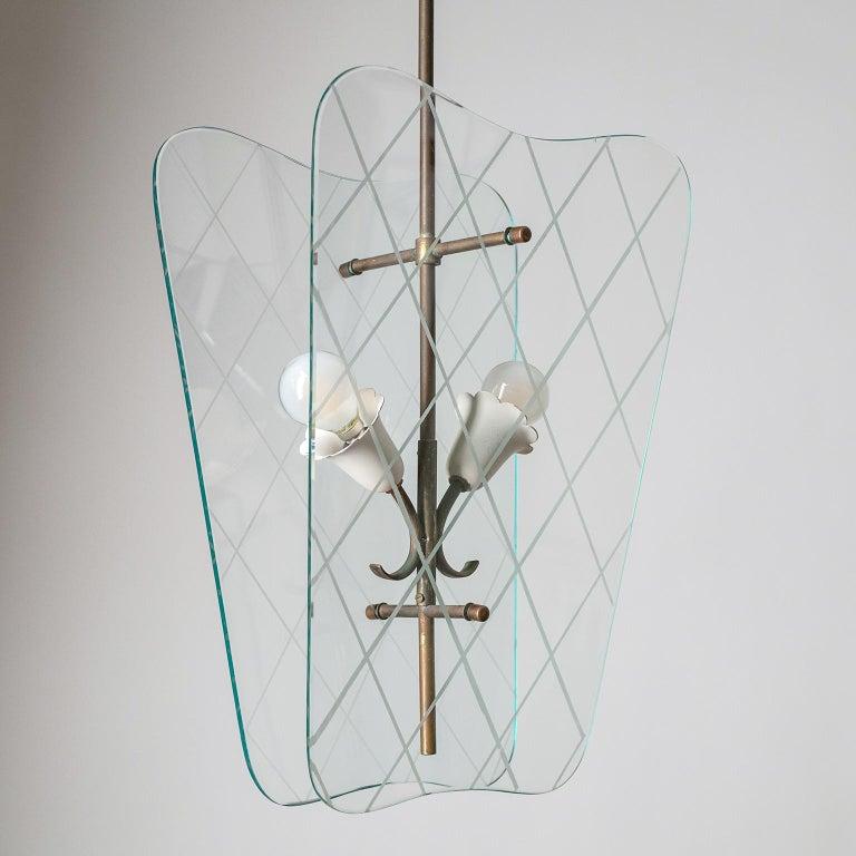 Italian Glass Lanterns, 1940s For Sale 8