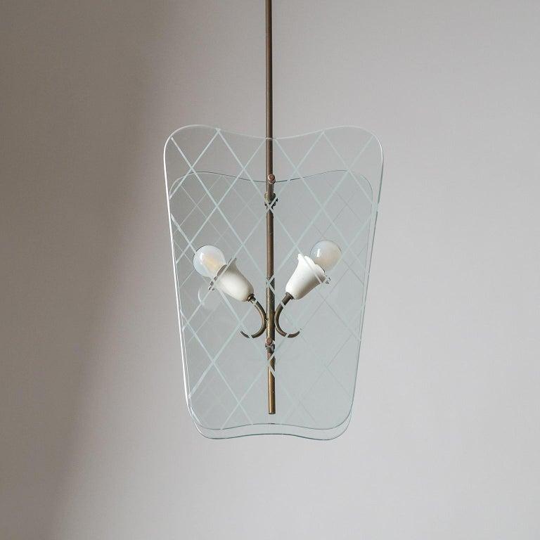 Italian Glass Lanterns, 1940s For Sale 10