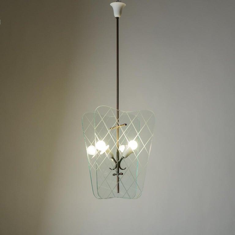 Italian Glass Lanterns, 1940s For Sale 12