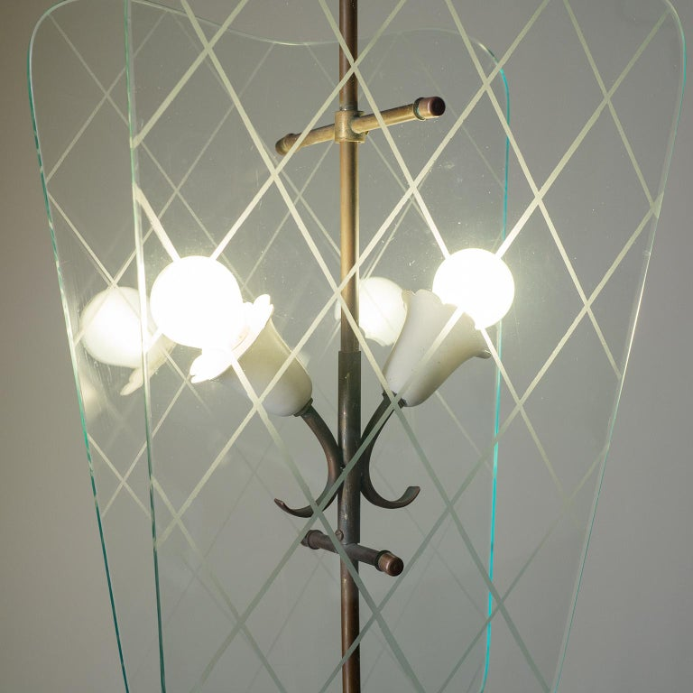 Italian Glass Lanterns, 1940s In Good Condition For Sale In Vienna, AT